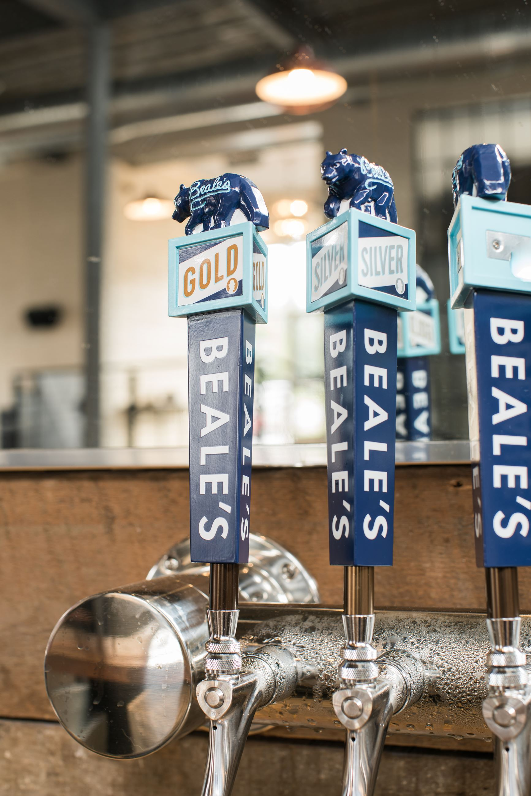 Beale's beer on tap