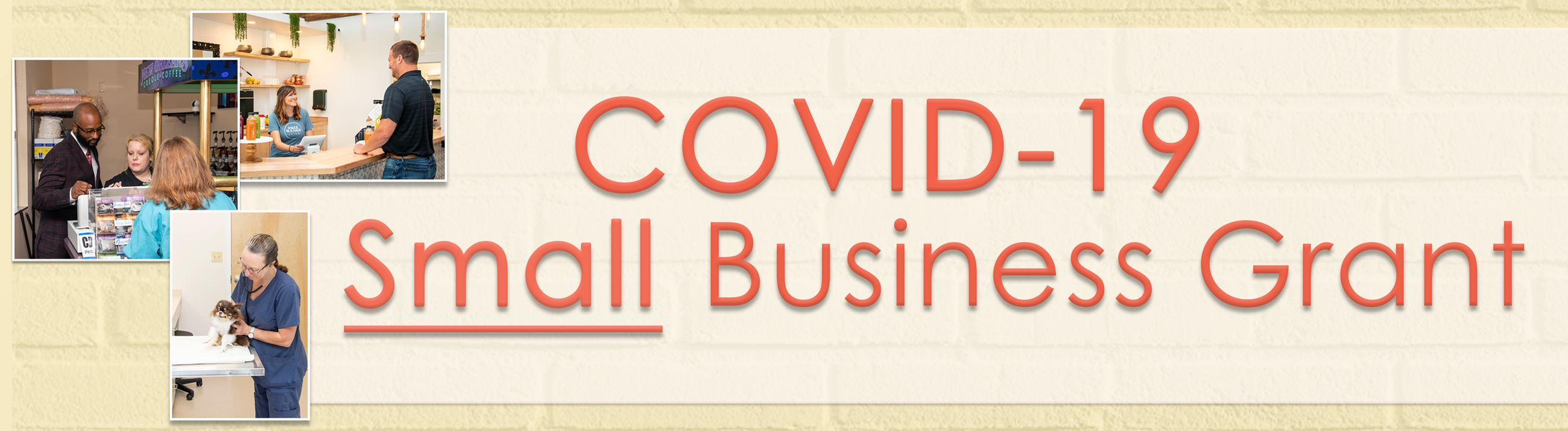 COVID Small Business Web Page Banner